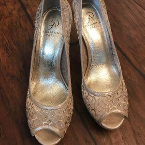 Adrianna Papell gold heels